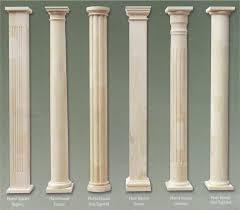 wood columns fiberglass columns
