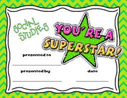 achievement awards for elementary students social studies award teaching resources teachers pay teachers