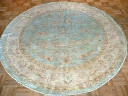 round rugs blue 6 feet rug striped and circle semi handmade on light cream