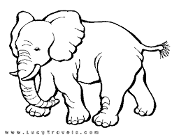 Small Picture wildlife coloring page african safari elephant 606857 Coloring
