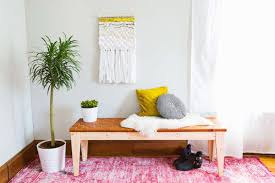 edgy furniture. DIY Woven Leather Bench (via Abeautifulmess.com) Edgy Furniture