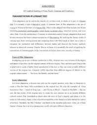 the best example essay movie review