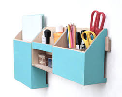 hanging office organizer. wood wall organizer turquoise mail hanging holder pen office