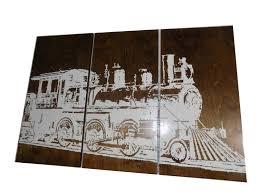 vintage train wall art transportation rustic