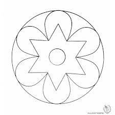 Disegno Di Mandala 2 Da Colorare Per Bambini