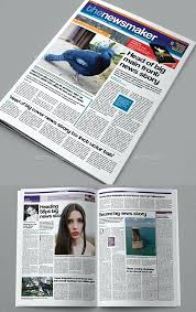 Newspaper Template Indesign 8 Pages Tabloid Newspaper Template Indesign Free Download