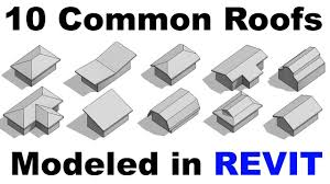 10 Common Roof Shapes Modeld in Revit Tutorial