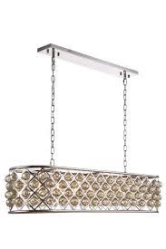 elegant lighting 1216g50pn gt rc crystal madison oval chandelier golden teak smoky