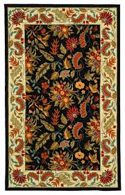 madison hand hooked rug black