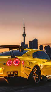 Nissan GTR Yellow Sports Car Wallpaper