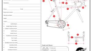 Bike Fitting Chart Road Positioning Chart Park Tool