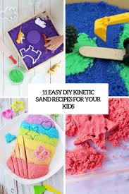 easy diy kinetic sand recipes for kids cover