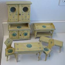 Miniature Dollhouse Kitchen Furniture Antique German Kitchen Gottschalk Dollhouse Miniature Blue Delft