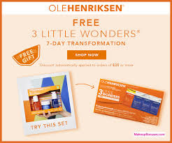 receive a free 4 pc gift with 35 ole henriksen purchase
