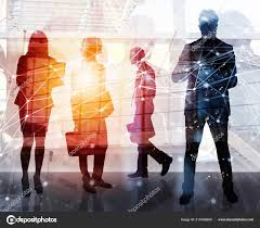 Citizen office concept Interior Business People Work Together In Office With Internet Network Effects Concept Of Teamwork And Partnership Double Exposure Stock Image Depositphotos Business People Work Together In Office With Internet Network