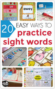 20 easy ways to practice sight words