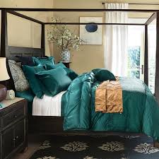 6 pieces cotton imitated silk luxury bedding set solid color pinch pleat bed set king queen