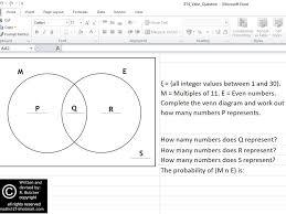 Venn Diagram In Excel Based On Data Practice Using A Venn Diagram Interactive Spreadsheet