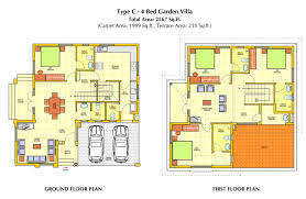 Architecture Home Floor Plans for Small and Large Size Land        Architecture Large size Modern Floor Design Contemporary House Type C Large Area Two Storey House