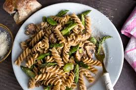 whole wheat pasta cooked. Delighful Pasta WholeGrain Pasta With Mushrooms Asparagus And Favas Recipe  NYT Cooking To Whole Wheat Cooked