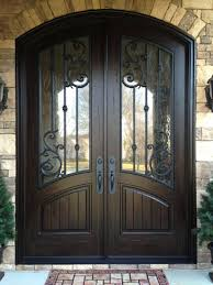 double wooden front doors with glass looks like the door is frowning double front entry doors