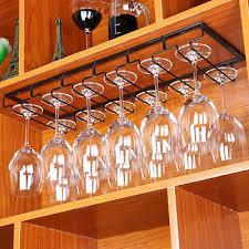 glass cup stemware shelf wine rack holder stainless steel hanging racks mounted