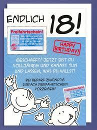 Riesen Grußkarte 18 Geburtstag Humor Xxl Accessoires Freifahrtschein