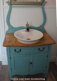 washstand bathroom pine: follow your heart woodworking bathroom renovation part  the commode turned into a vanity