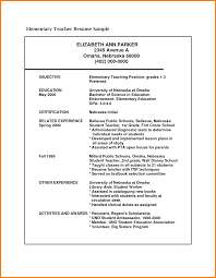 Collection Of Solutions 5 Resume Format For Teaching Job Pdf
