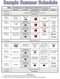 Summer Camp Weekly Schedule Summer Camp Weekly Schedule Rome Fontanacountryinn Com