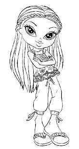 Coloring Pages Bratz Coloring Page 2