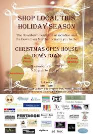 christmas open house flyer christmas open house downtown downtown penticton