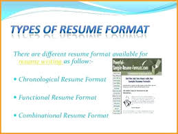 different types of resume 6 different resume formats cote tennis types  resume writing