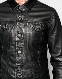 levi s trucker jacket black l