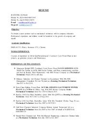 Maintenance Job Resume Unique SENTHILBIODATA48 Copy