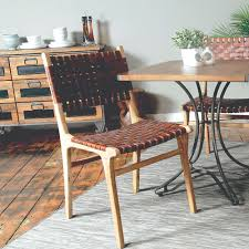 leather dining chairs modern. Tan Woven Leather Dining Chair - Modern Vintage Collection Chairs N