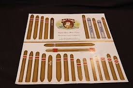 Cigar Chart Poster Vintage Bering Cigar Size Brand Guide Chart Advertising