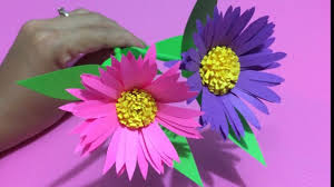Flower Making Paper How To Make Aster Flower With Paper Making Paper Flowers Step By