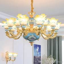 romantic pendant lamp blue k9 crystal chandelier lighting re murano glass chandelier res led chandeliers french bedroom hanging lamp dining room