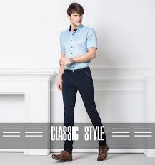 2019 <b>Spring</b> Non Iron Dress Men Classic Pants <b>Fashion Business</b> ...