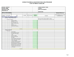 Free Estimates Templates Template Start Up Cost Template Excel Estimating Templates And Free 20