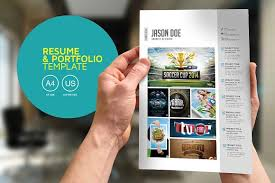 Resume Portfolio Awesome Resume Portfolio Template Resume Templates Creative Market
