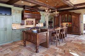 The Brown Tones In This Limestone Travertine Tile Are The Perfect  Compliment To The Solid Wood Furniture.