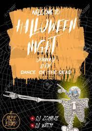Halloween Dance Flyer Templates Halloween Vertical Background With Skeletons Dancing Dab Flyer