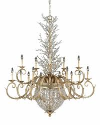 the garland chandelier in gold silver leaf finish