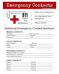 Client Database Sheet Template Sample Contact Emergency Information ...