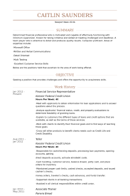 Financial Service Representative Resume Samples Visualcv Resume
