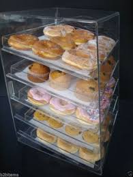 Cookie Display Stand Acrylic Pastry Bakery Donut Bagels Cookie Display Case with trays 73
