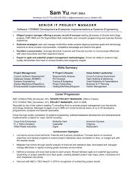 Experienced It Project Manager Resume Sample Monste Dqbooks