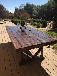wooden patio tables how to build a wood patio outdoor table design diy large